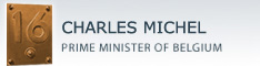 Website of CHARLES MICHEL, Prime Minister of Belgium